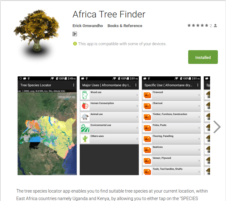 ICRAF GeoScience Lab launches new Android App - Africa Tree Finder